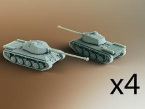 FCM 50T French Heavy Tank Scale: 1:285 x4 in Smooth Fine Detail Plastic