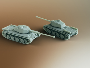 FCM 50T French Heavy Tank Scale: 1:200 in Smooth Fine Detail Plastic