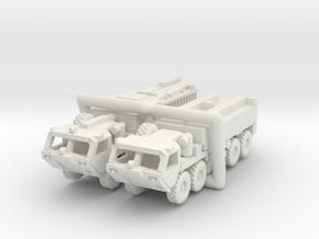 HEMTT Fire Fighting Convoy 1:220 (Z) & 1/160 (N) in White Natural Versatile Plastic: 1:220 - Z