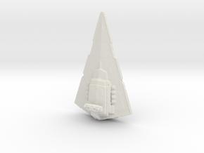 Imperial Star Destroyer 53mm in White Natural Versatile Plastic