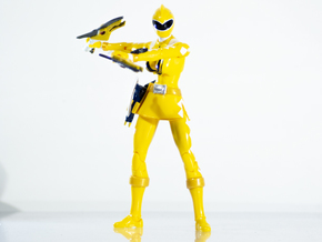 Dinothunder Yellow Ptera Grip Power Rangers in White Natural Versatile Plastic