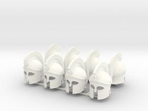 HOPLITE HELMET 20 x8  in White Processed Versatile Plastic