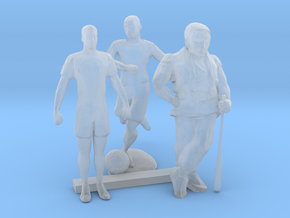 S Scale Soccer and Baseball Players in Smooth Fine Detail Plastic