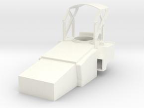 1.7 SU27 / SU30 COCKPIT HUB in White Processed Versatile Plastic