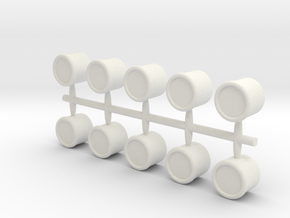 Mini Number Sprue! - BLANK in White Natural Versatile Plastic