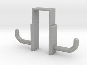 Double Door Hook in Aluminum: Small