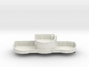 1/96 USN midship 4th deck port gun tub bofors in White Natural Versatile Plastic