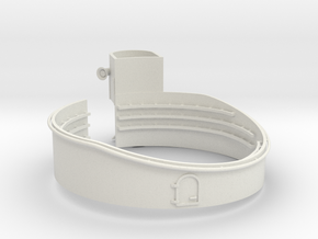 1/96 USN 40mm Quad Gun Tub Forecastle Port in White Natural Versatile Plastic
