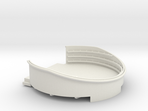 1/96 USN 40mm Quad Gun Tub Aft Superstructure port in White Natural Versatile Plastic