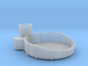 1/96 USN 40mm Tub Fore Superstructure Port in Smooth Fine Detail Plastic