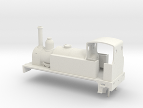 Industrial Shunter (for Electrotren 0-6-0 chassis) in White Natural Versatile Plastic