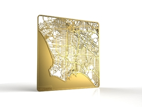 Los Angeles in 18k Gold Plated Brass
