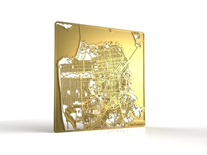 San Francisco in 18k Gold Plated Brass