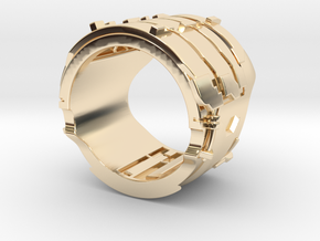 Dead Space Engineering Suit lvl3 ring - 19,3mm in 14k Gold Plated Brass
