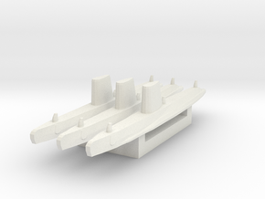 USN Guppy III sub 1/2400 x3 in White Natural Versatile Plastic