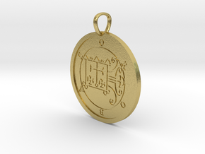 Orobas Medallion in Natural Brass