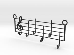 Music Key Hanger in Matte Full Color Sandstone