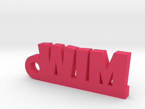 WIM keychain Lucky in Pink Processed Versatile Plastic