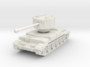 Challenger tank scale 1/87 in White Natural Versatile Plastic