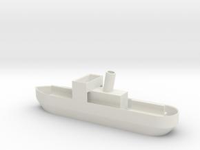 N gauge pleasure steamer in White Natural Versatile Plastic
