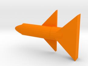 Rocket in Orange Processed Versatile Plastic