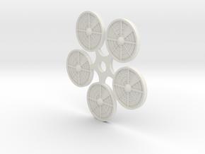 (5) Ambush Tokens in White Natural Versatile Plastic