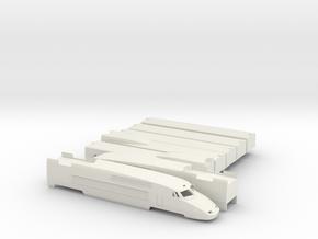 TGV-A Scale TT in White Natural Versatile Plastic