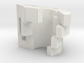 Megatron Left Hand v1 in White Natural Versatile Plastic