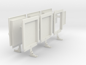 1/48th Freight Warehouse Truck shop doors in White Natural Versatile Plastic