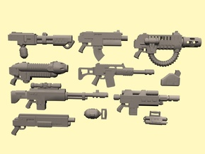 28mm SciFi Empire weapons in Smoothest Fine Detail Plastic