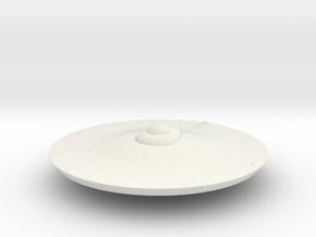 2500 TOS saucer v3 in White Natural Versatile Plastic