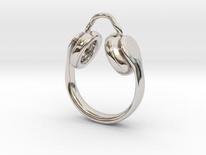 Headphones Jewel  in Rhodium Plated Brass