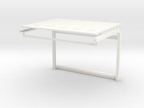 1/64 Overhead Door 24w x 16h (4.50w x 3.00h) Kit in White Processed Versatile Plastic