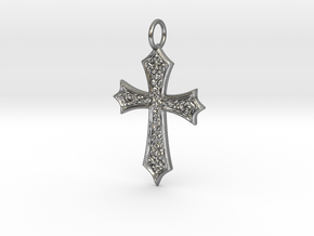 Celtic Cross (point ends) in Natural Silver