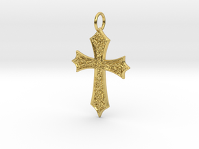 Celtic Cross (point ends) in Polished Brass