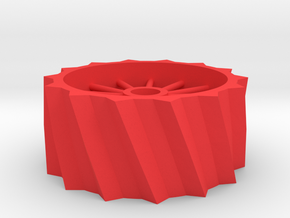 Steam Traction Engine Drive Wheel Extensions in Red Processed Versatile Plastic