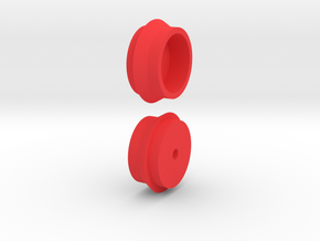 Steam Combine Rear Wheels in Red Processed Versatile Plastic