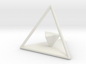 Dual Solids Tetrahedron in White Natural Versatile Plastic
