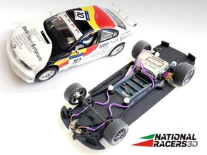 3D Chassis - Fly 320i/M3 GTR (Combo)  in Black Natural Versatile Plastic