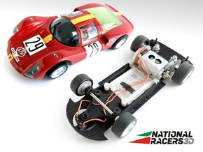 3D Chassis - Fly Porsche Carrera 6 (SW/Inline) in Black Natural Versatile Plastic