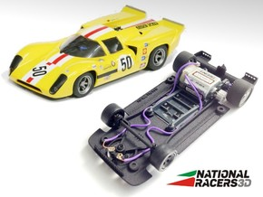 3D Chassis - Fly Lola T70 (SW) in Black Natural Versatile Plastic