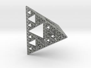 Sierpinski Pyramid; 4th Iteration in Gray Professional Plastic
