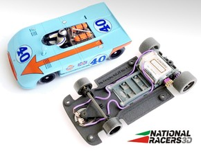 3D Chassis - Fly Porsche 908-3 (Sidewinder) in Black Natural Versatile Plastic