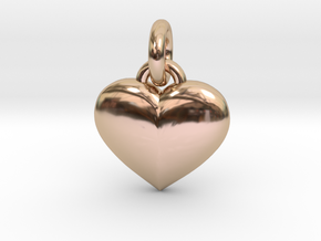 Puffed Heart in 14k Rose Gold
