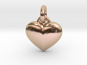 Puffed Heart in 14k Rose Gold