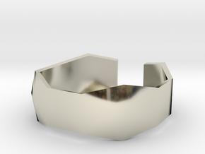 geommatrix f134  wristband 1 in 14k White Gold
