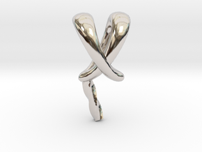 Solitaire 6mm Pearl Pendant Rabbit Ear Bail in Platinum