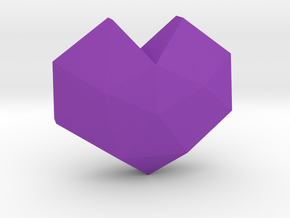geommatrix f134 heart d 1  in Purple Processed Versatile Plastic