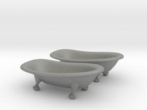 O Scale Clawfoot Bathtubs in Gray PA12