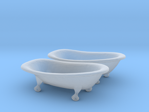 S Scale Clawfoot Bathtubs in Smooth Fine Detail Plastic